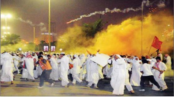 مسيرة كرامة وطن أبراج الكويت الضرب ضرب القوات الخاصة شارع الخليج المعارضة الكويتية