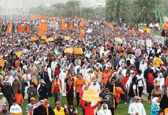 مسيرة كرامة وطن مسيرات مظاهرات الكويت