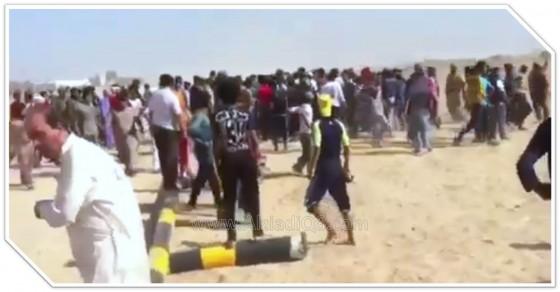 فيديو: عراقيين يتظاهرون احتجاجاً على تنفيذ قرار الأمم المتحدة بترسيم الحدود الكويتية العراقية ويهددون الكويت