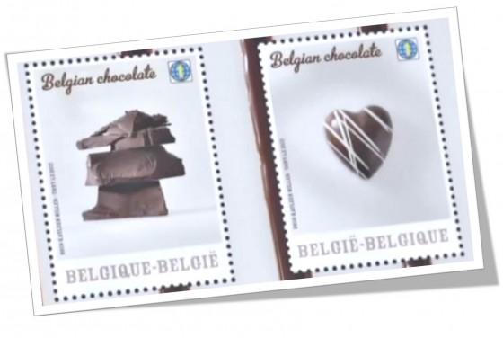 """فيديو: بلجيكا تبدأ بتصنيع """"طوابع بريدية"""" بطعم الشوكولاتة !"""