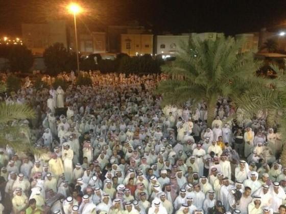 مسيرة من أمام ديوان مسلم البراك إلى السجن المركزي بيوم الحكم بسجنه