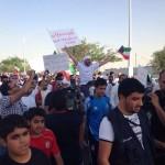 """فيديو+صور: تقرير شامل عن مسيرة و اعتصام البدون في """"اليوم العالمي للاعنف"""" 2-10-2013"""