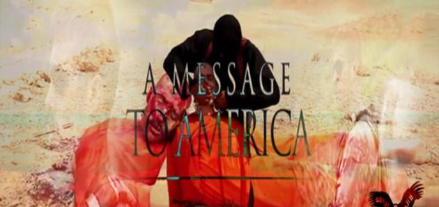 """فيديو: الدولة الإسلامية """"داعش"""" تبث تصوير لأمريكيان أحدهم تم نحره والآخر سيتم نحره إن لم يوقف أوباما القصف"""