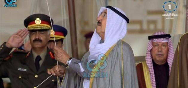 فيديو: سمو الأمير يرفع العلم في قصر بيان بالذكرى الـ9 لتوليه مقاليد الحكم ايذاناً ببدء الإحتفالات الوطنية