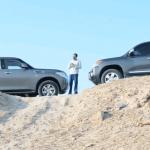 فيديو: مقارنة بين Toyota Land Cruiser Vs. Nissan Patrol مع Q8Stig وشرح للمواصفات