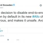 العميل المنشق سنودن يحذر المستخدمين من تطبيق قوقل للدردشة Allo