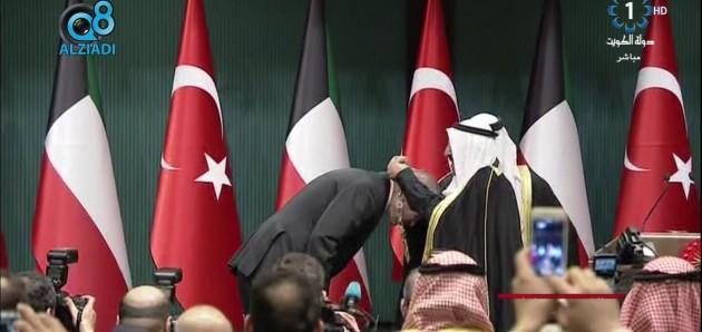 فيديو: الرئيس التركي أردوغان يقلد سمو الأمير الشيخ صباح الأحمد وسام الدولة وسمو الأمير يقلده قلادة مبارك الكبير