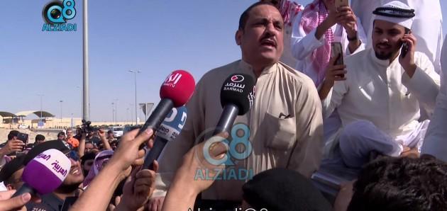 """فيديو: أول كلمة لـ""""مسلم البراك"""" لحظة خروجه من السجن المركزي بعد حبسه لمدة عامين 21-4-2017"""